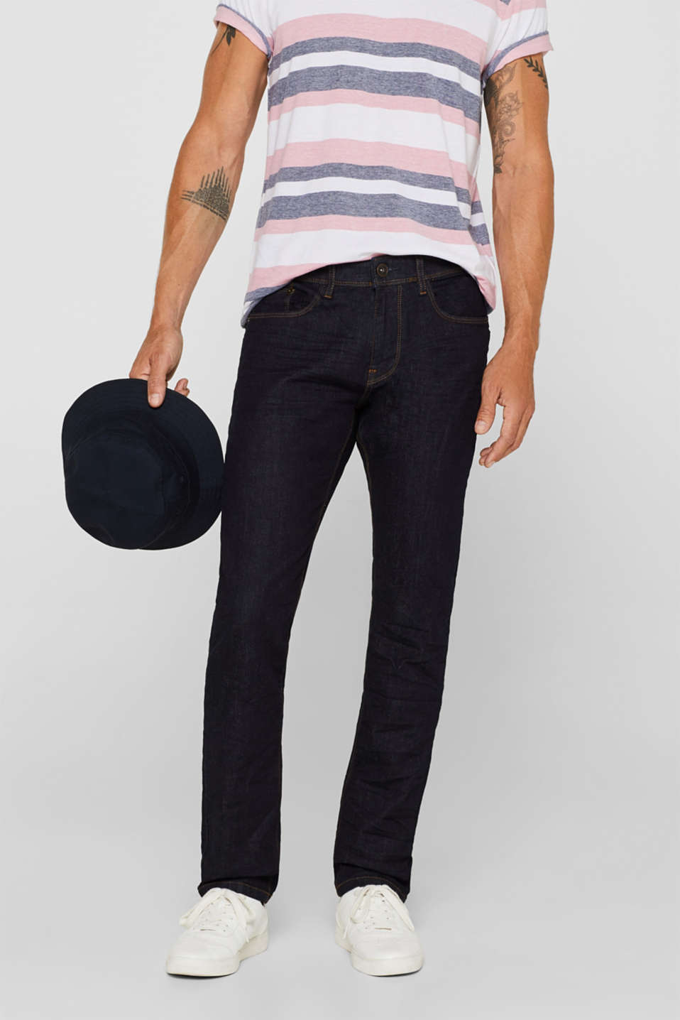 Esprit - Stretch jeans in organic cotton