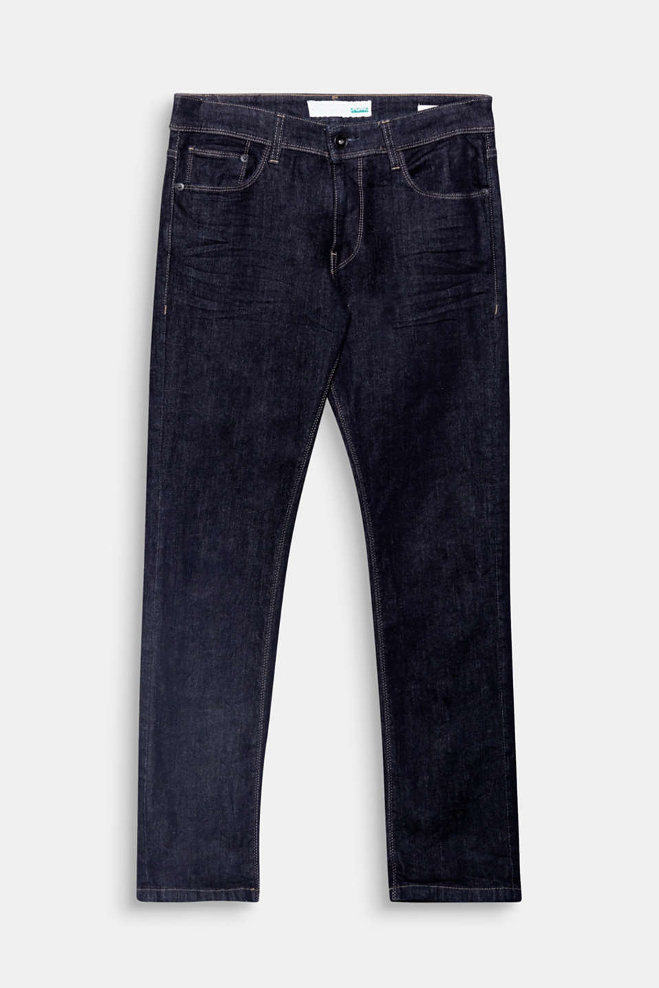 In a dark rinse wash: five-pocket jeans made of organic cotton with added stretch for comfort