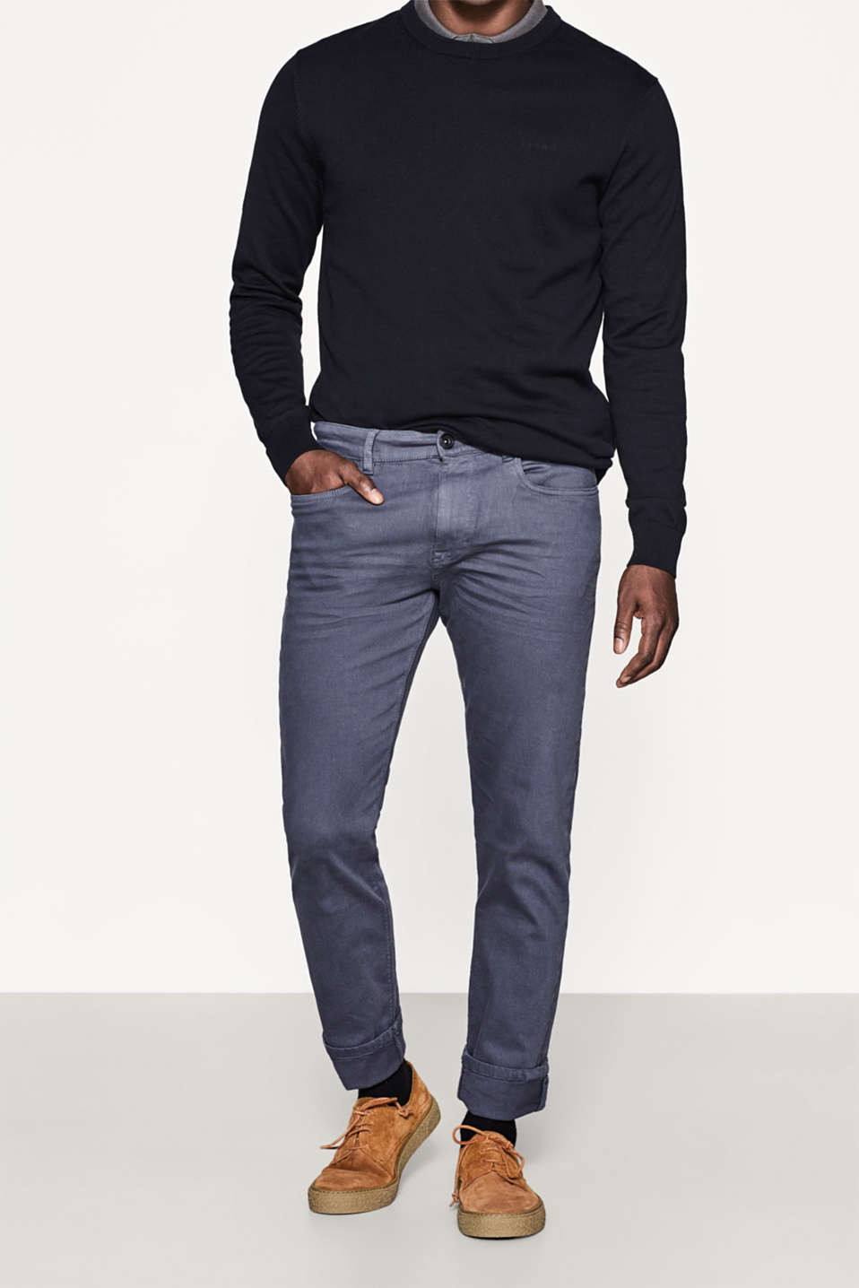 Esprit - Stretch-Denim aus Organic Cotton-Mix