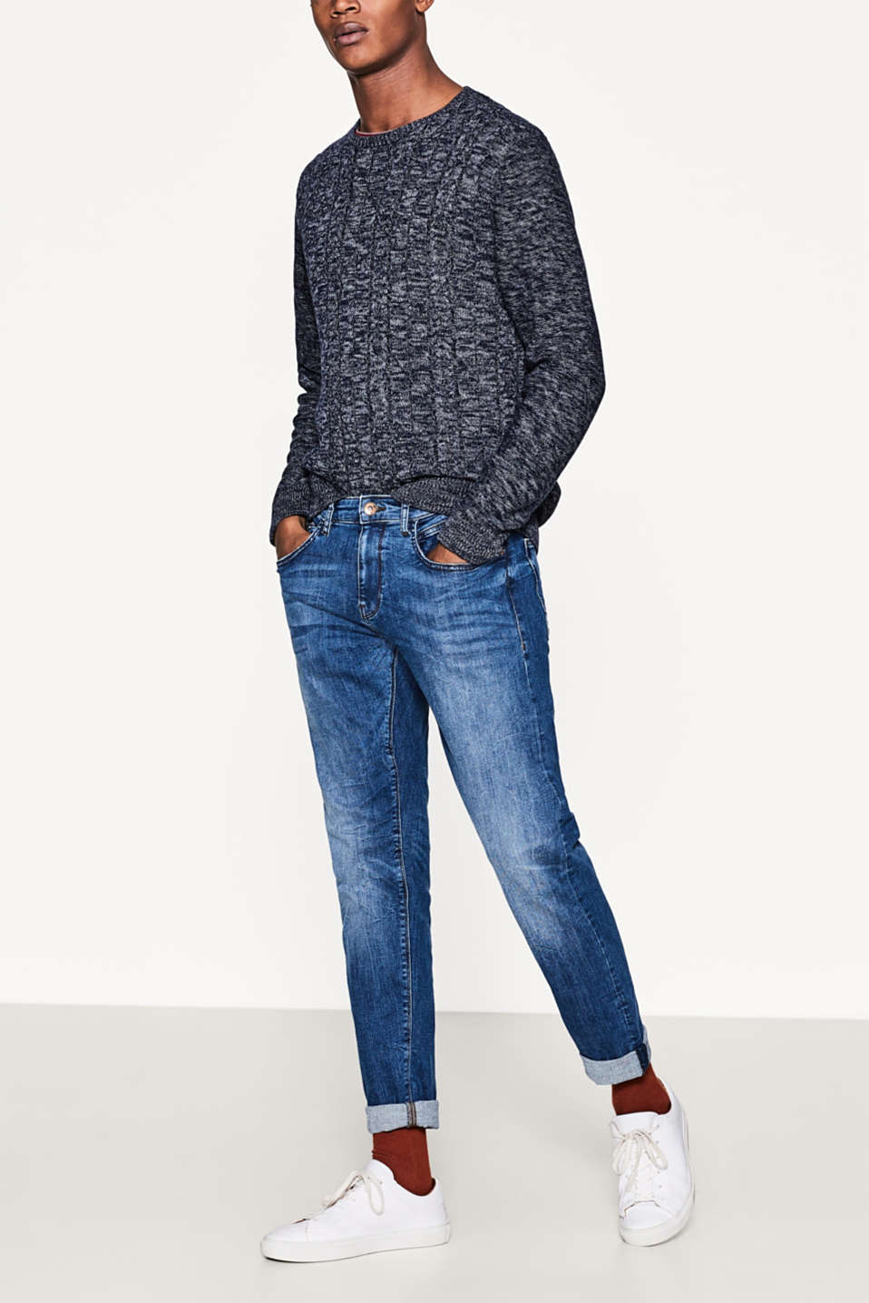 Esprit - Dynamic denim with ultra stretchy comfort