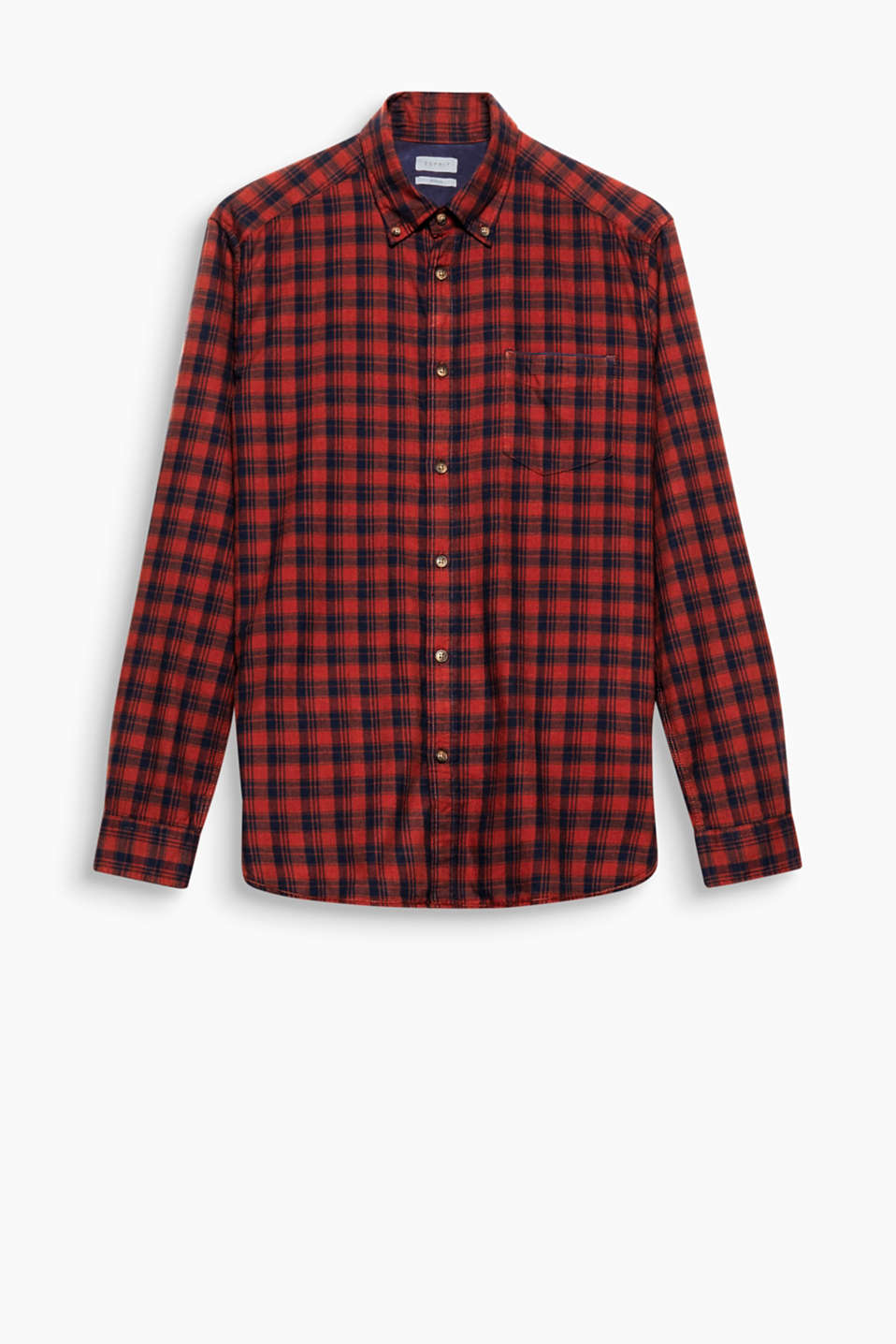 Be it a rustic or grunge look: the Prince of Wales checks make this shirt open to lots of styling ideas.