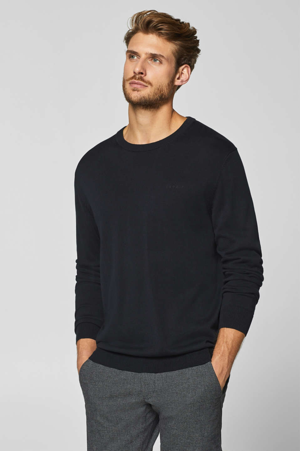 Esprit - Fine-knit jumper in 100% cotton