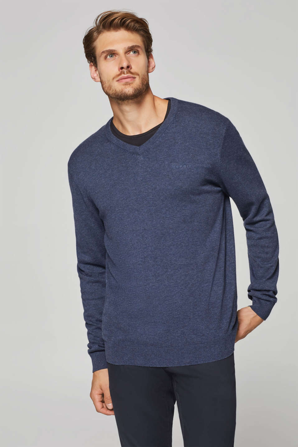Esprit - Fine knit jumper in 100% cotton