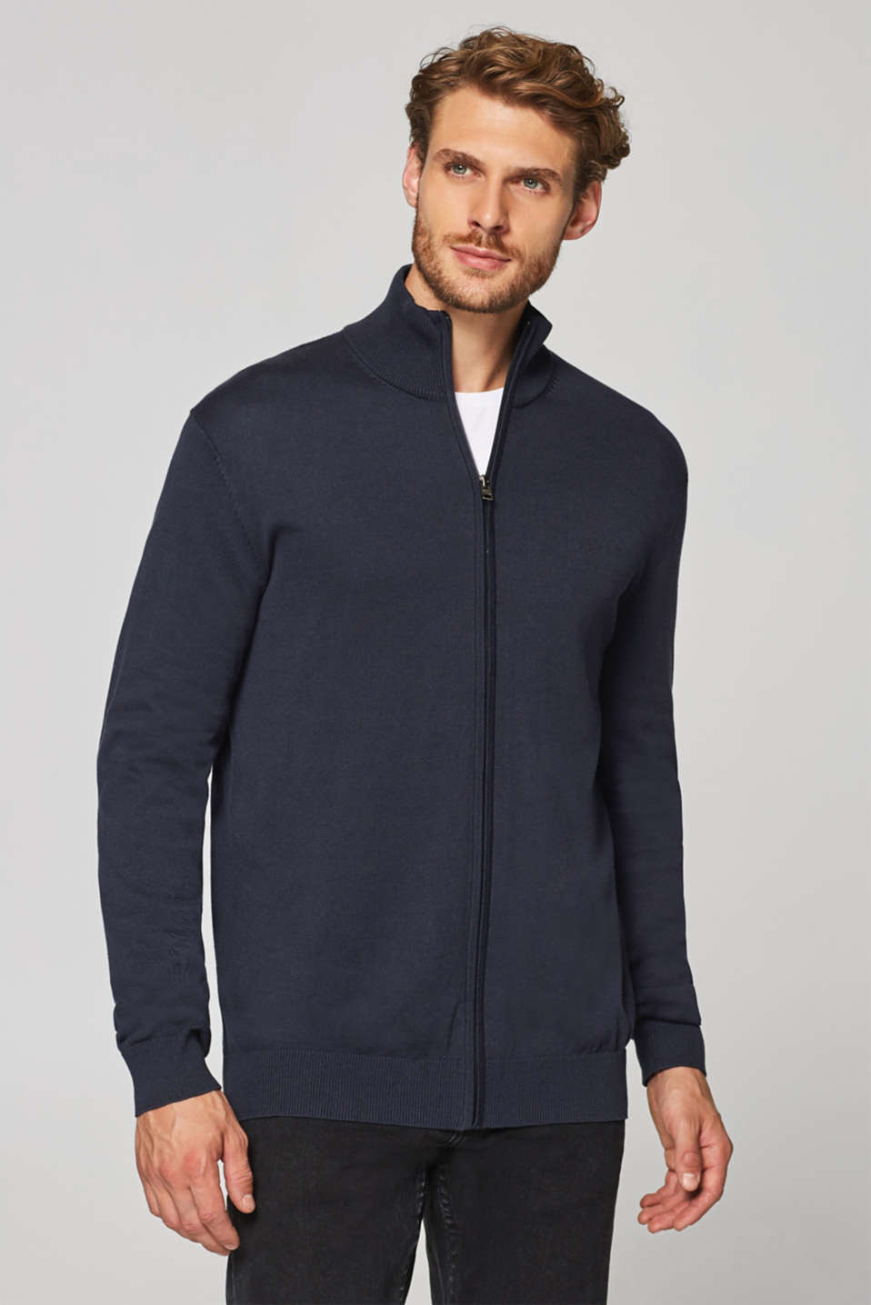 Esprit - Fine knit cardigan in 100% cotton