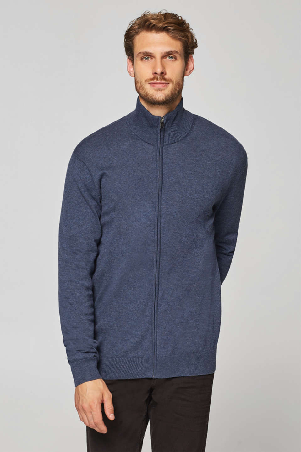 Esprit - Fine knit cardigan made from 100% cotton