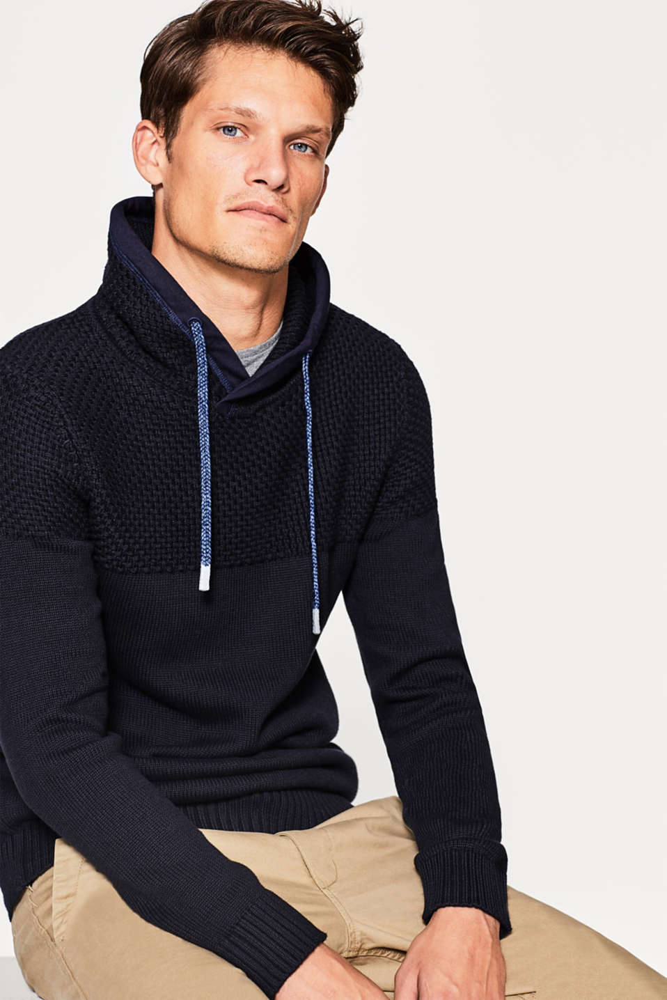 Esprit - Knitted jumper in 100% cotton