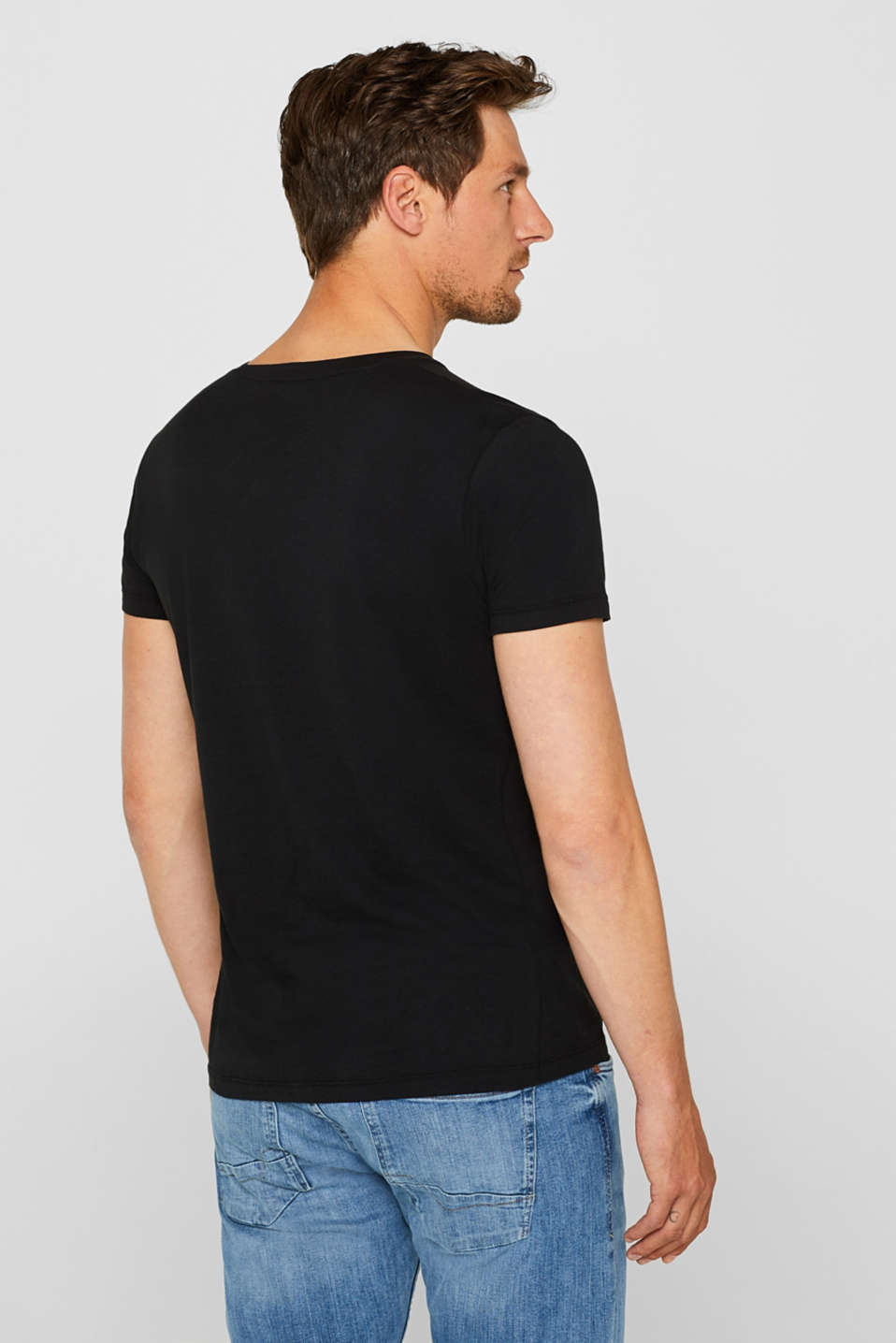 Jersey T-shirt in 100% cotton, BLACK, detail image number 3
