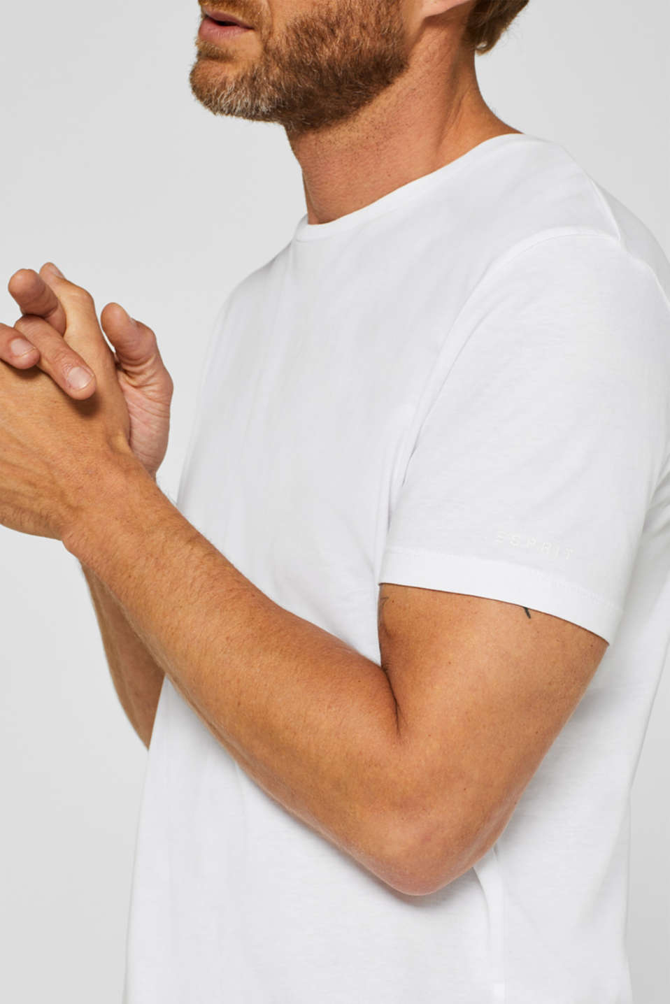 Jersey T-shirt in 100% cotton, WHITE, detail image number 1