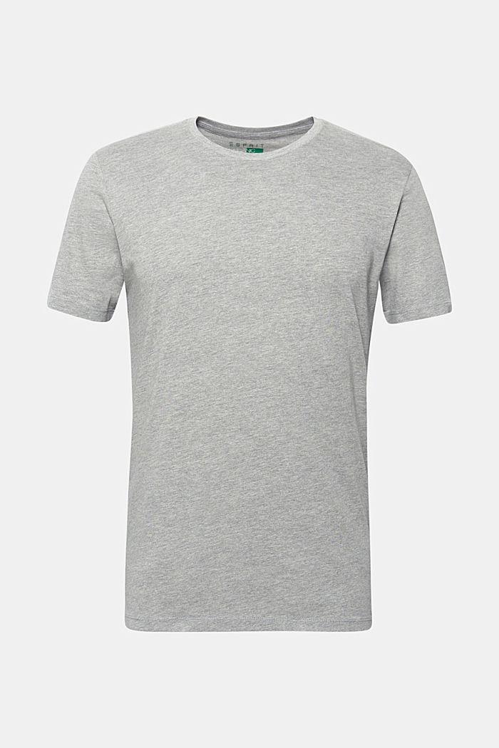 Jersey-T-shirt i ekologisk bomullsmix, MEDIUM GREY, detail image number 0