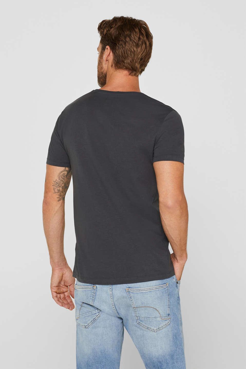 Jersey shirt made of organic cotton, DARK GREY, detail image number 3