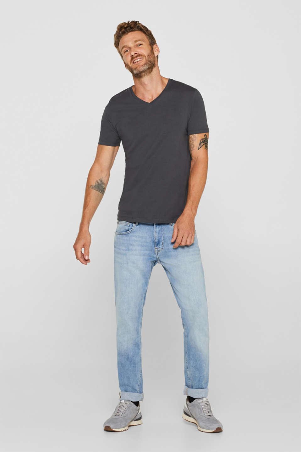 Jersey shirt made of organic cotton, DARK GREY, detail image number 4