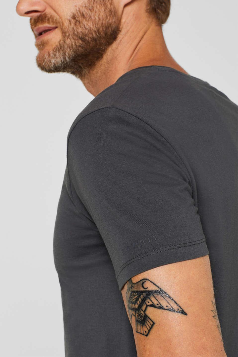 Jersey shirt made of organic cotton, DARK GREY, detail image number 1