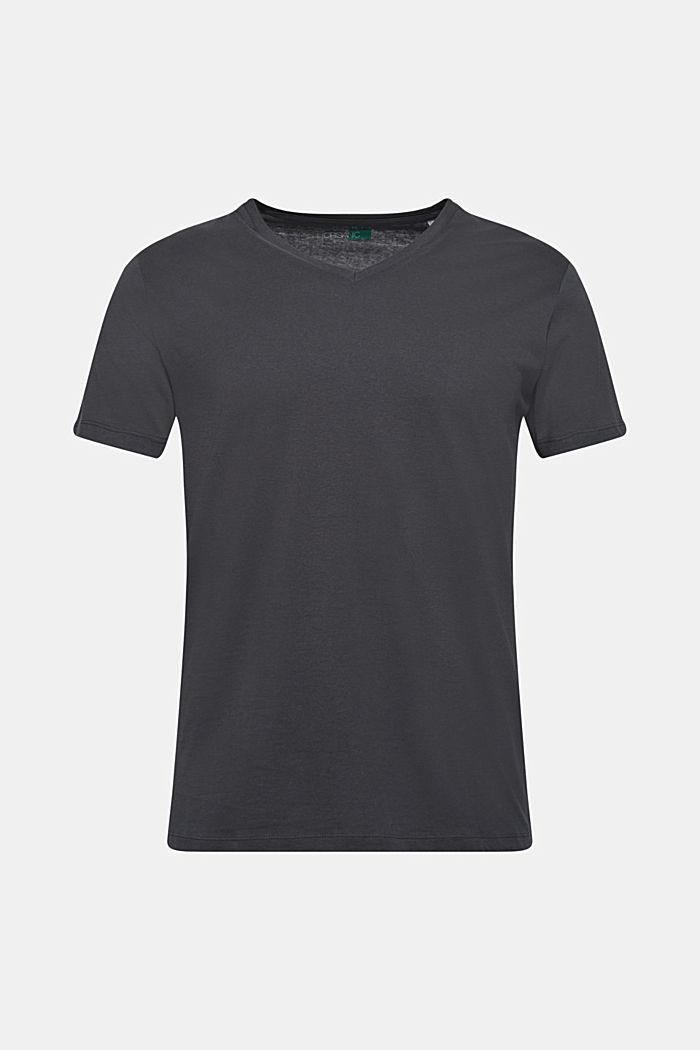 Jersey shirt made of organic cotton, DARK GREY, detail image number 0
