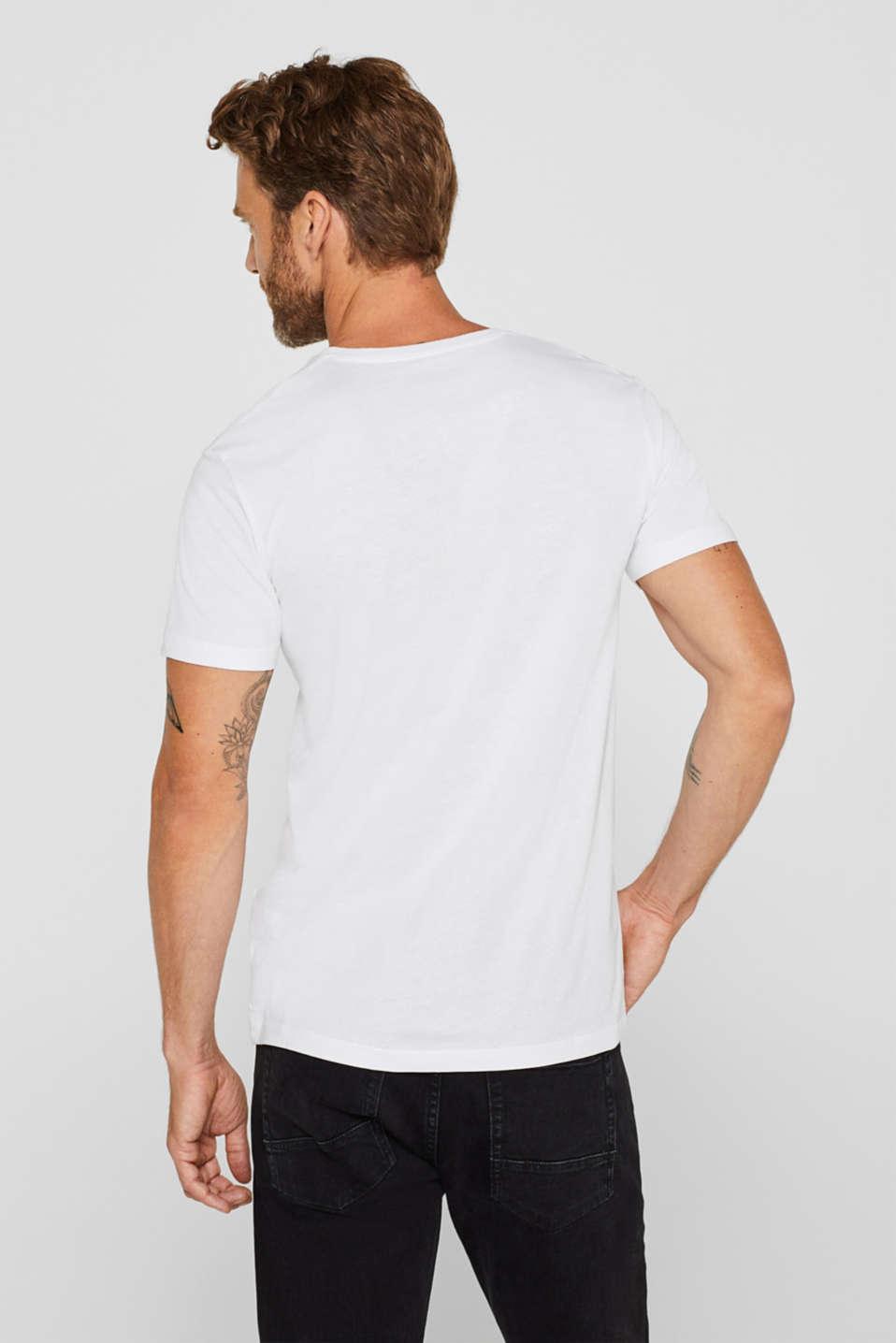 Jersey shirt made of organic cotton, WHITE, detail image number 3