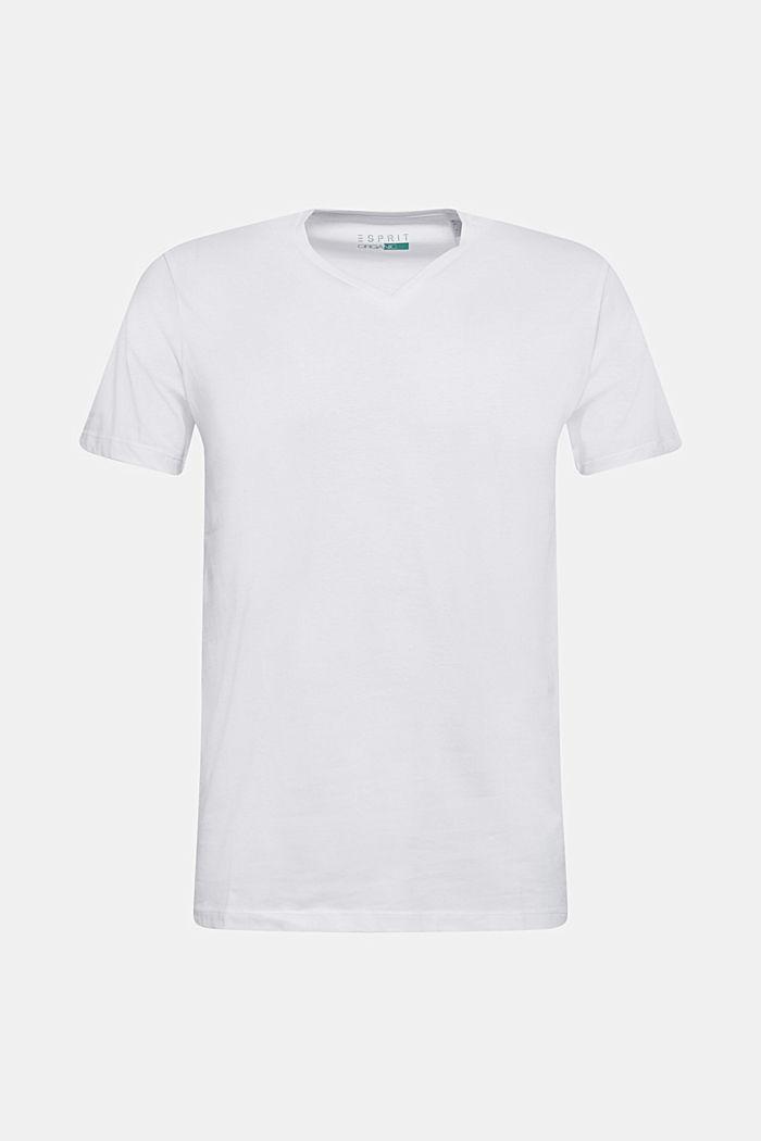 Jersey shirt made of organic cotton, WHITE, detail image number 0
