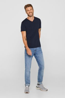 Jersey shirt made of organic cotton, NAVY, detail