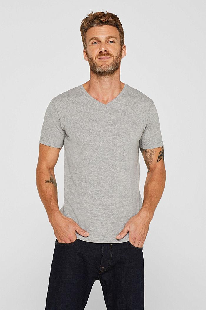 Jersey T-shirt made of an organic cotton blend, MEDIUM GREY, detail image number 0