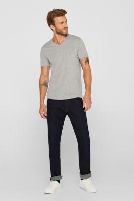 Jersey T-shirt made of an organic cotton blend, MEDIUM GREY, detail