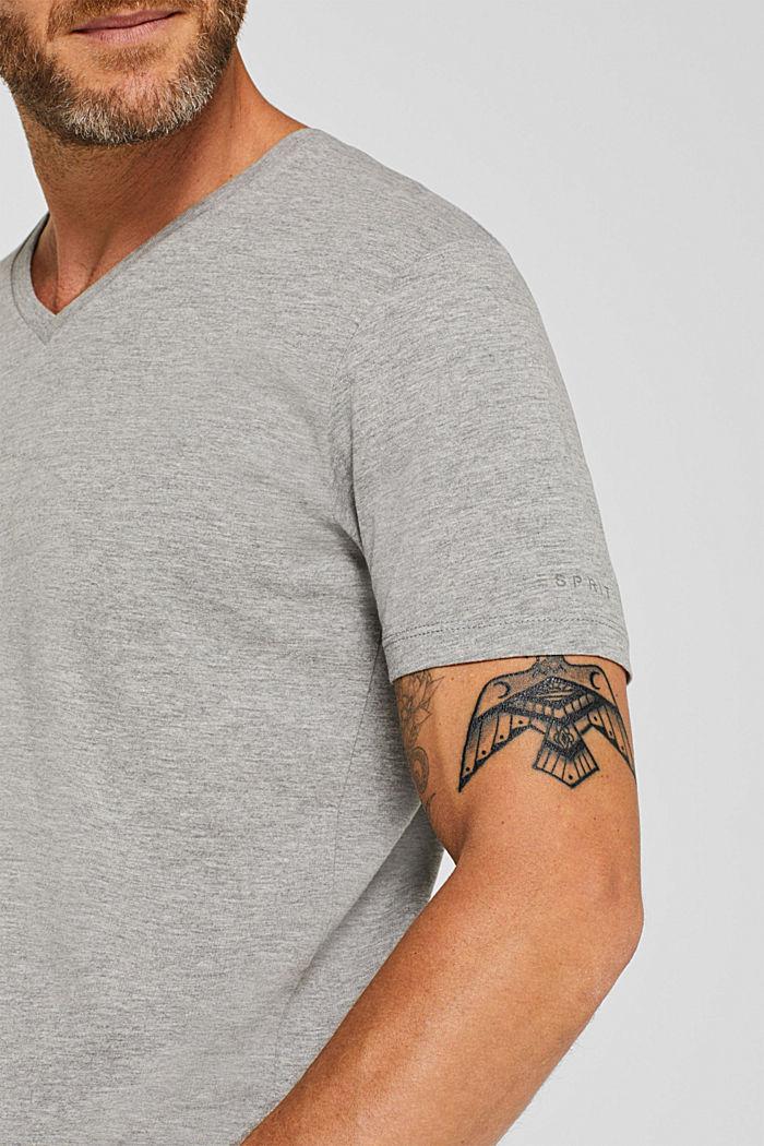 Jersey T-shirt made of an organic cotton blend, MEDIUM GREY, detail image number 1