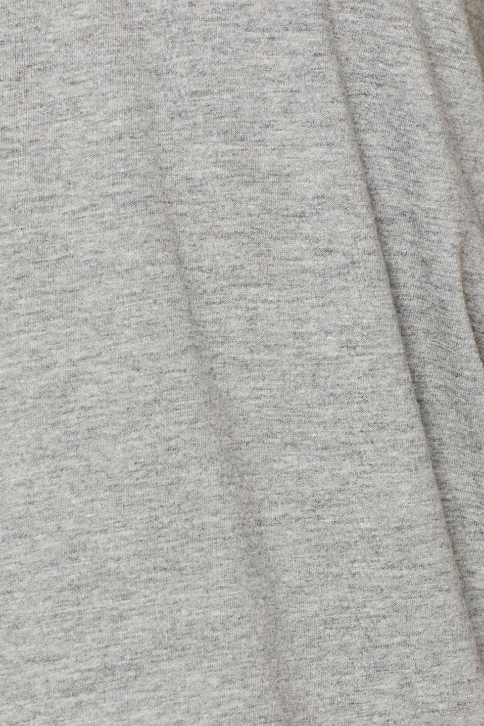 Jersey T-shirt made of an organic cotton blend, MEDIUM GREY, detail image number 4