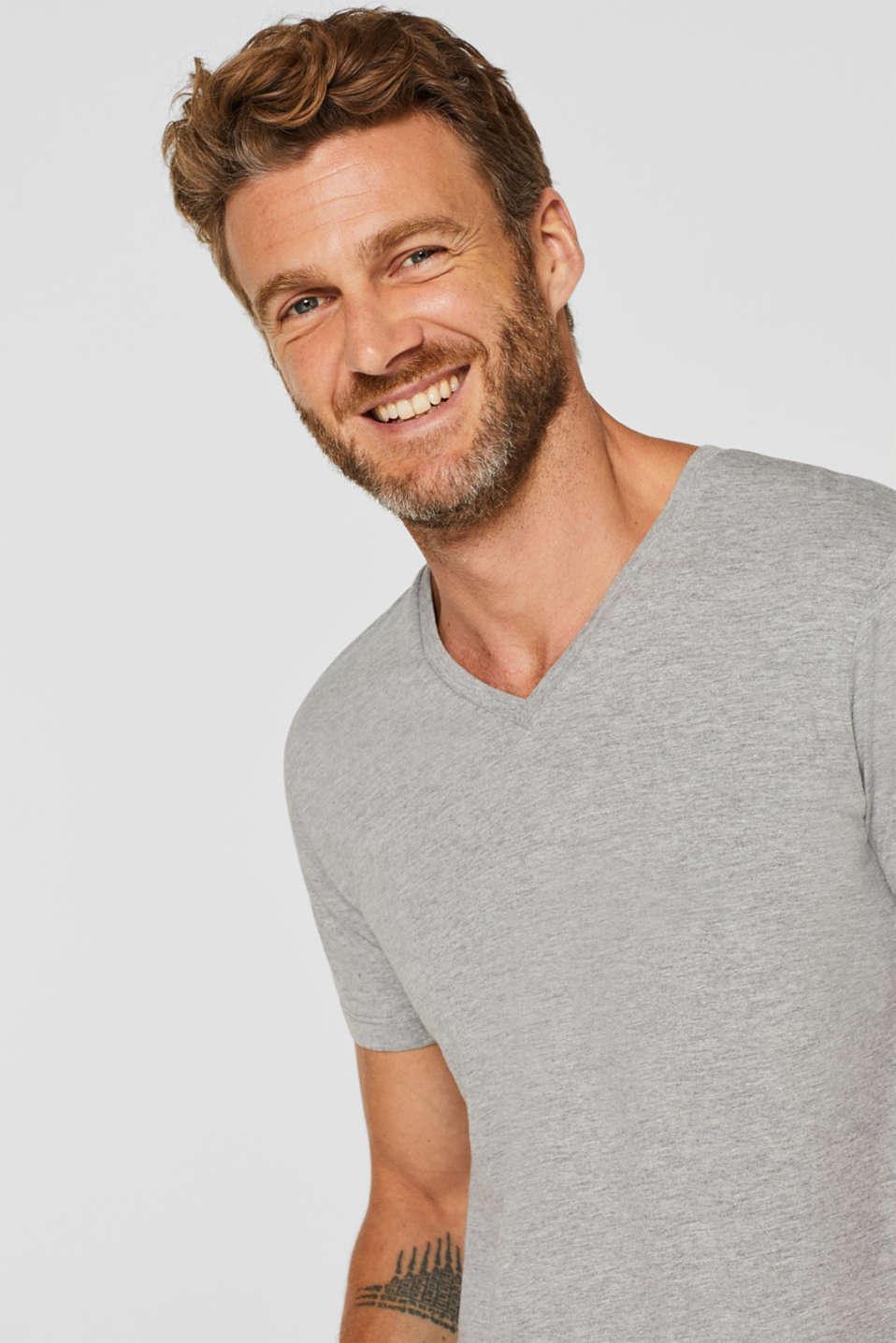 Jersey T-shirt made of an organic cotton blend, MEDIUM GREY, detail image number 5