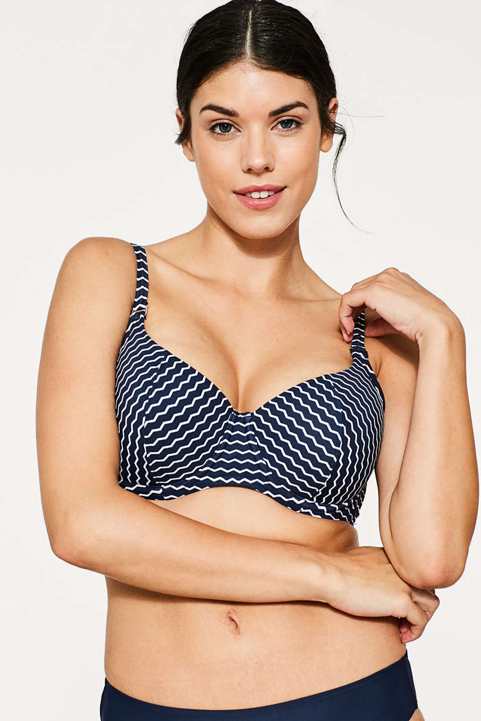 Esprit - Padded underwire top for large cup sizes