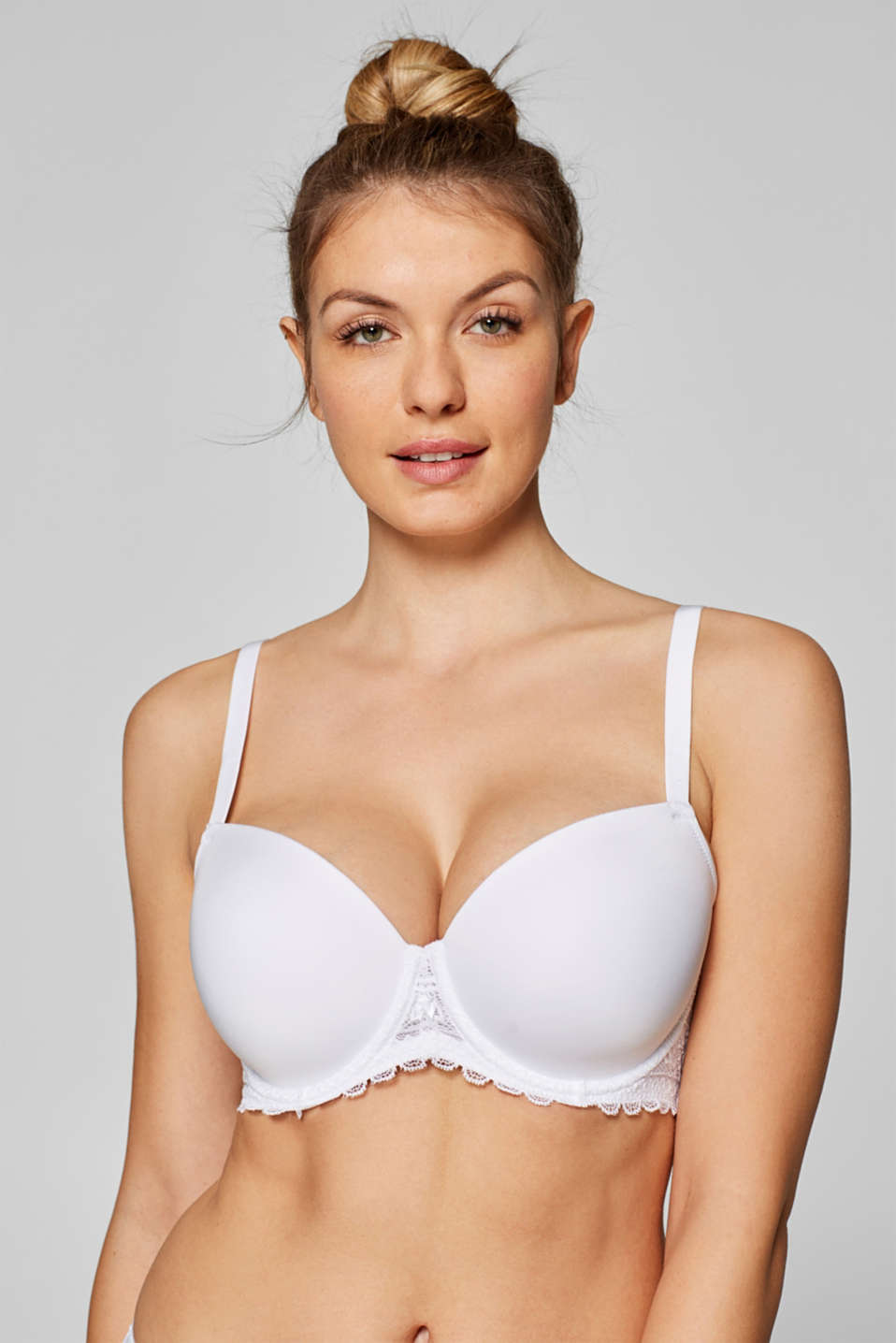 Esprit - Padded underwire bra in crocheted lace