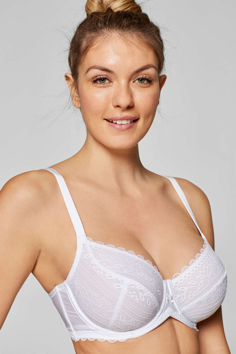 Esprit - Unpadded underwire bra in crocheted lace for larger cup sizes