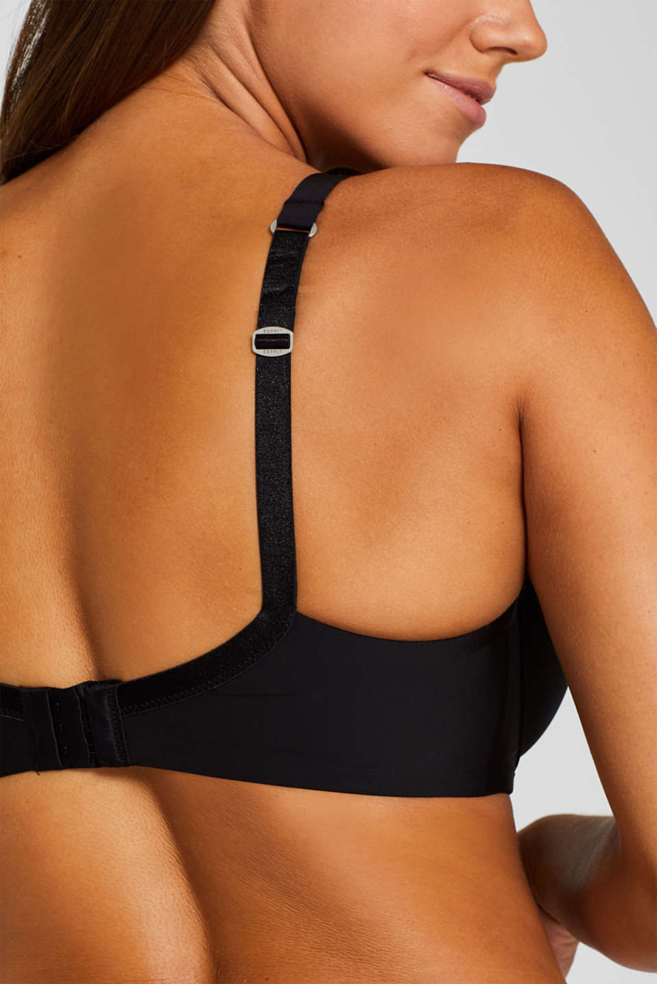 Padded, underwire bra for large cup sizes, BLACK, detail image number 3