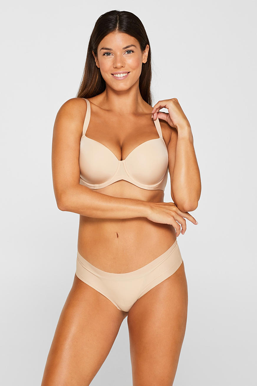 Padded, underwire bra for large cup sizes