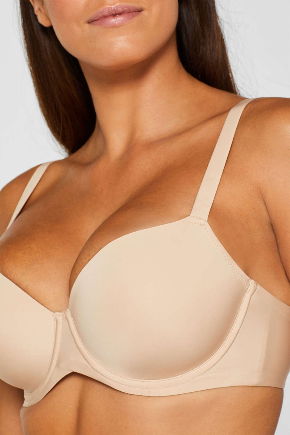 Padded, underwire bra for large cup sizes, DUSTY NUDE 5, detail image number 2
