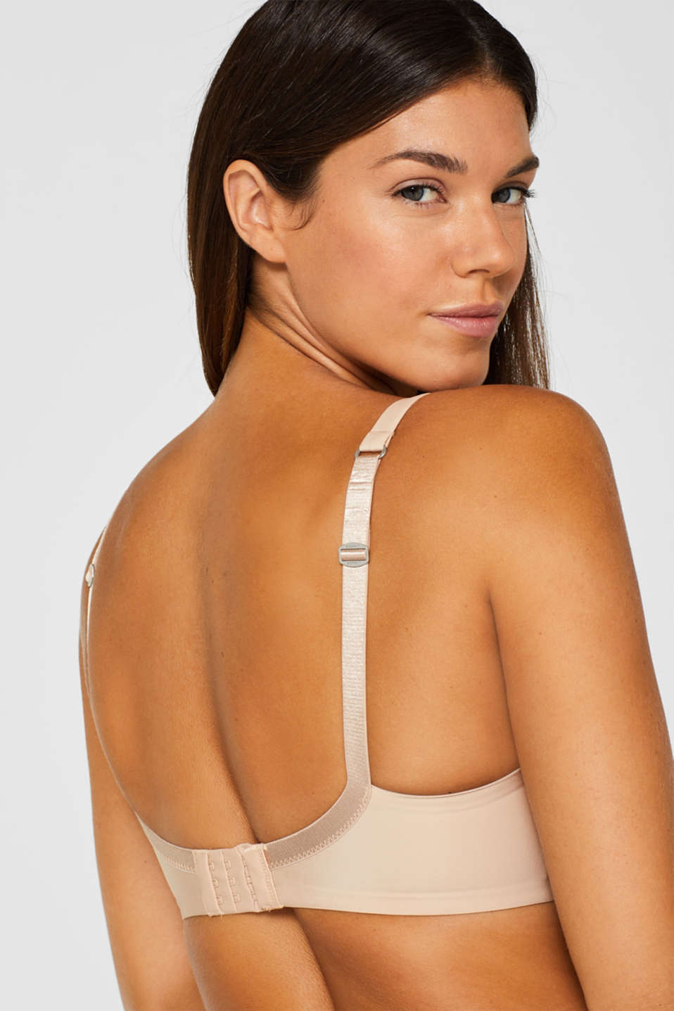 Padded, underwire bra for large cup sizes, DUSTY NUDE 5, detail image number 3