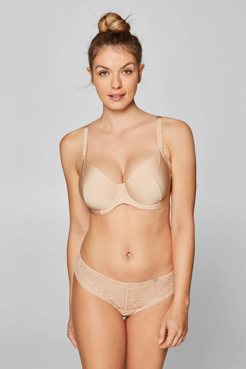 Esprit - Unpadded, basic underwire bra for large cups