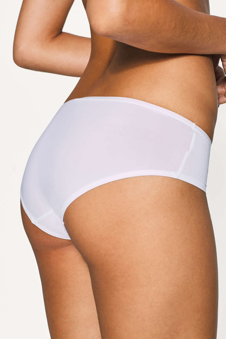 Two pairs of microfibre hipster shorts, WHITE, detail image number 2