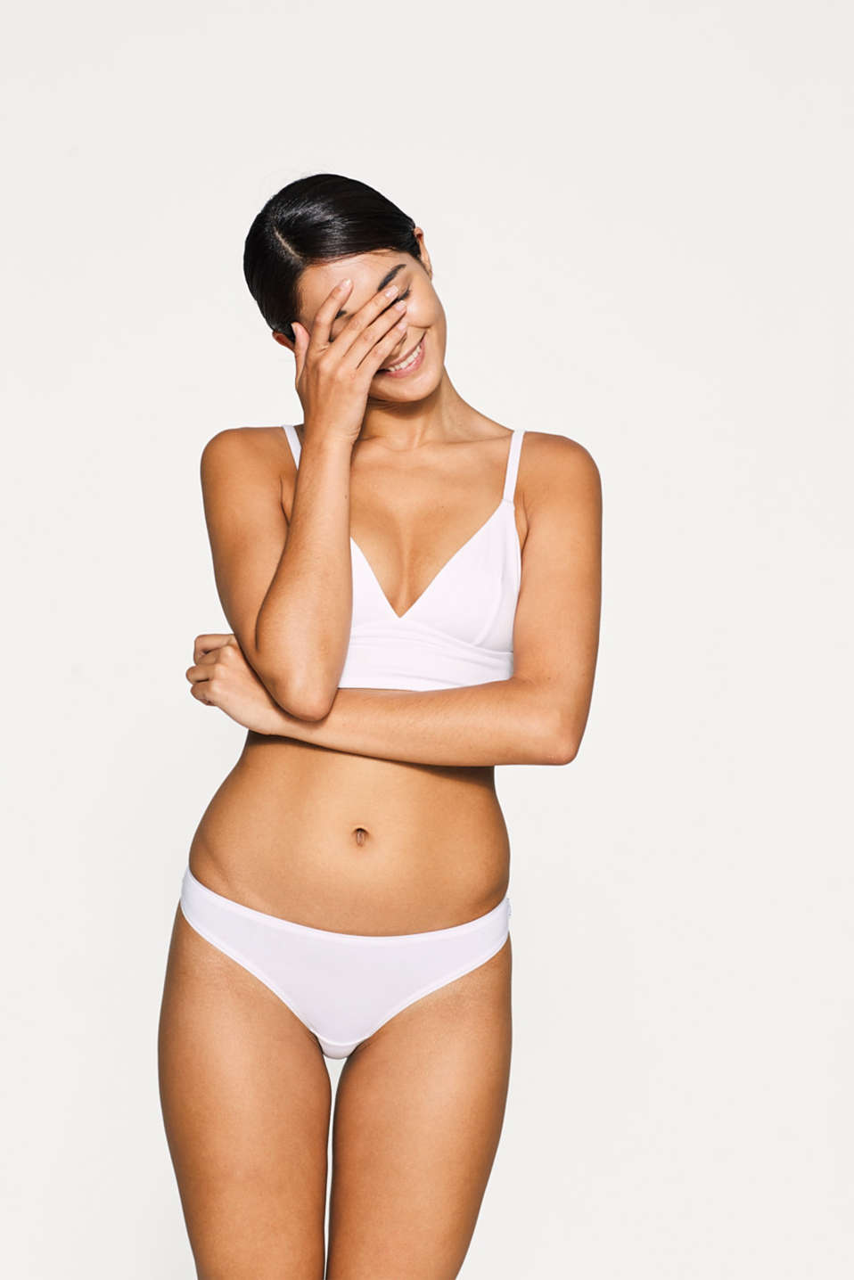 Double pack of cotton hipster thongs, WHITE, detail image number 0
