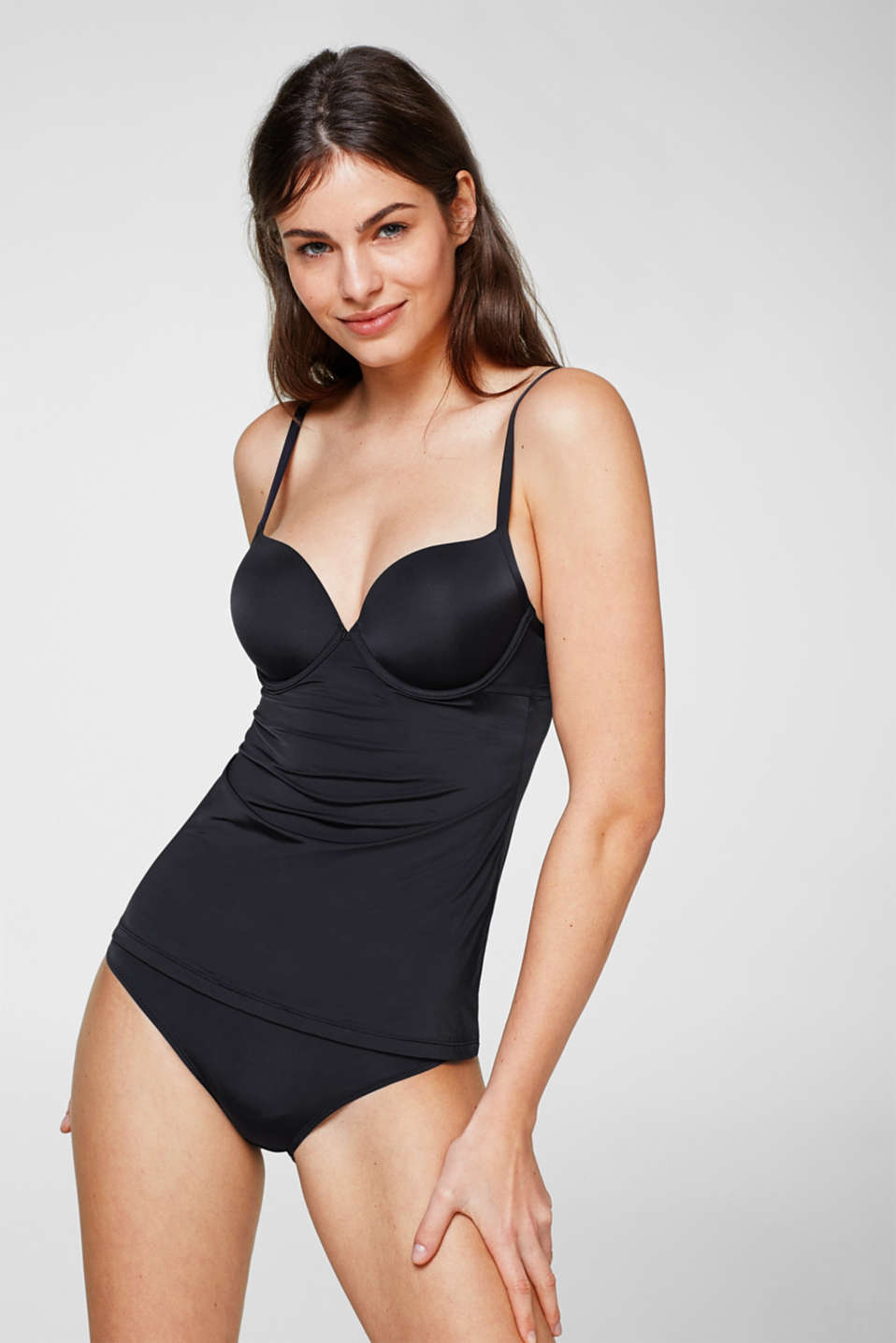 Esprit - Camisole with padded underwire cups