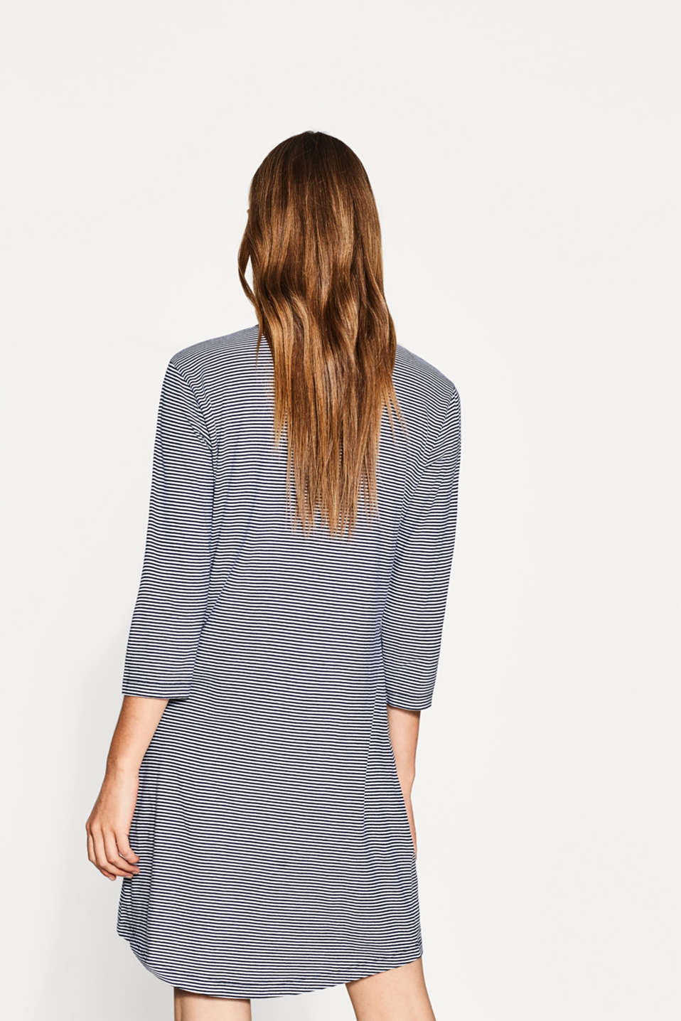 Jersey nightdress in 100% cotton, NAVY, detail image number 2