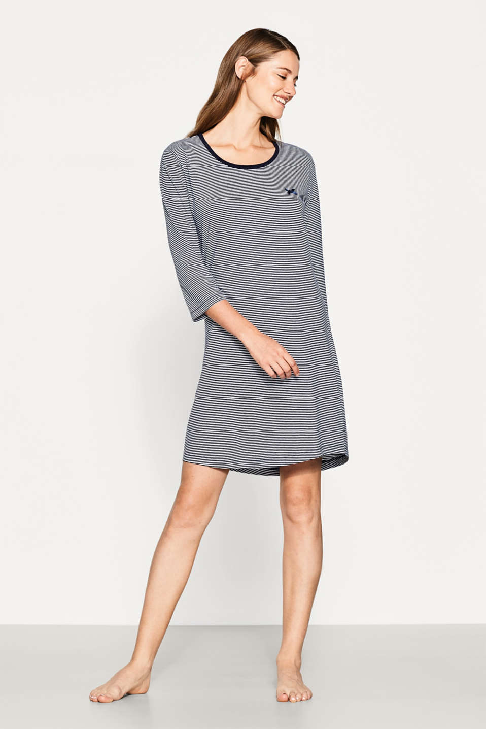Esprit - Jersey nightdress in 100% cotton