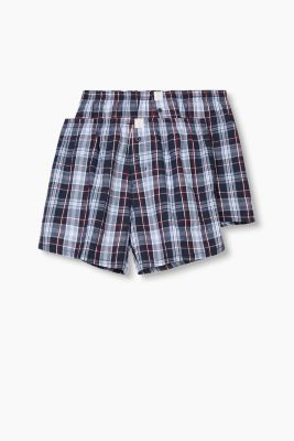 Double pack of shorts, 100% cotton, NAVY, detail