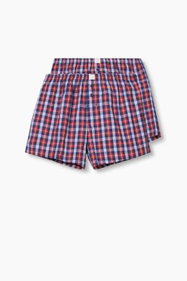 Double pack of shorts, 100% cotton, RED, detail