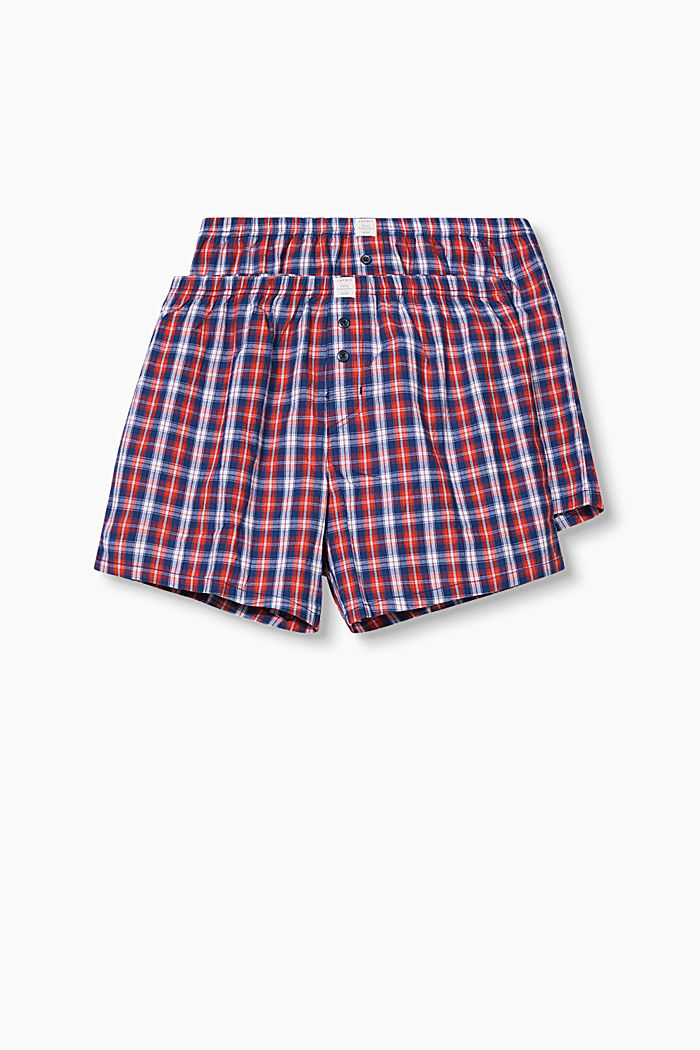Double pack of shorts, 100% cotton, RED, detail image number 0