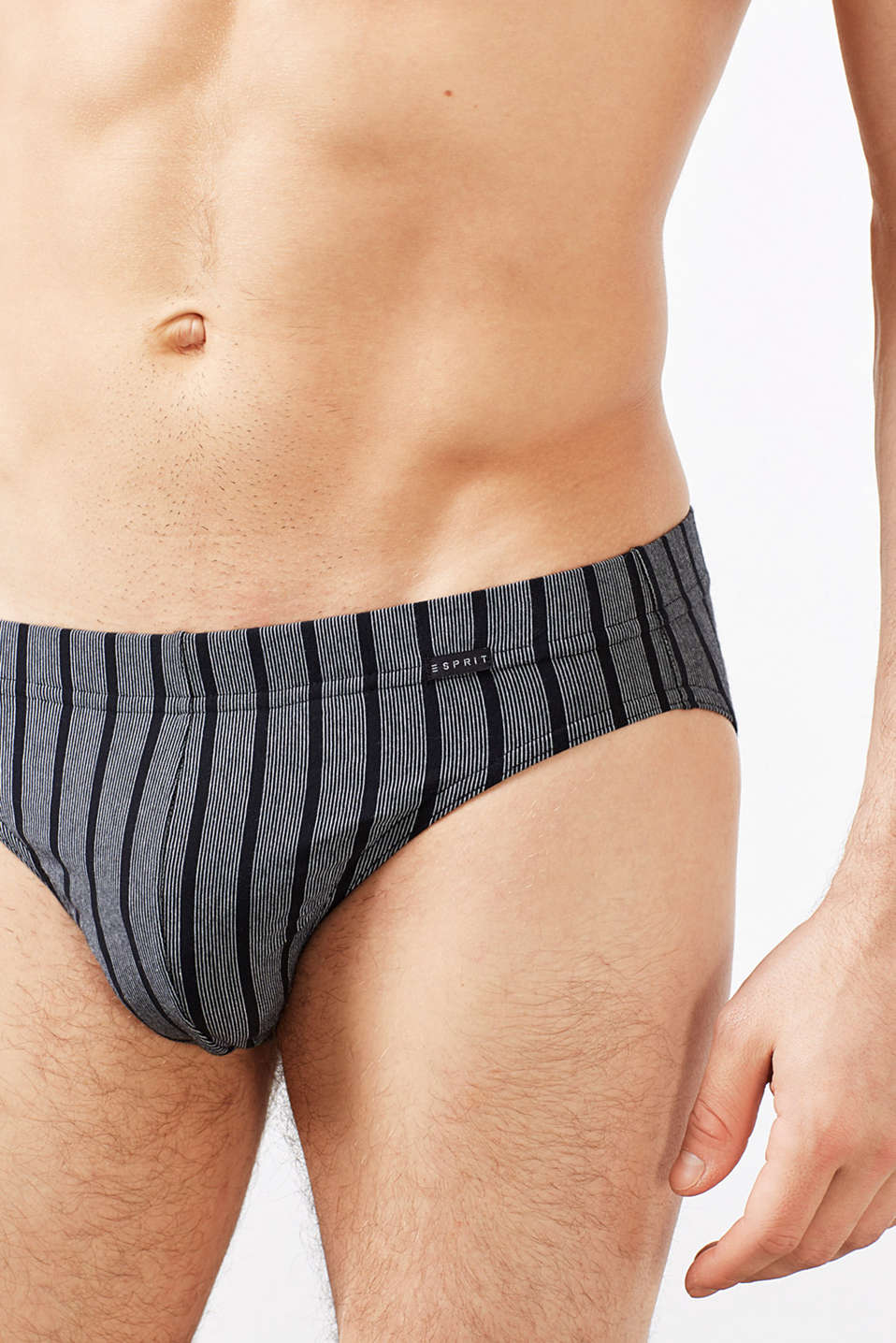 Three pack of stretch cotton briefs, BLACK, detail image number 1