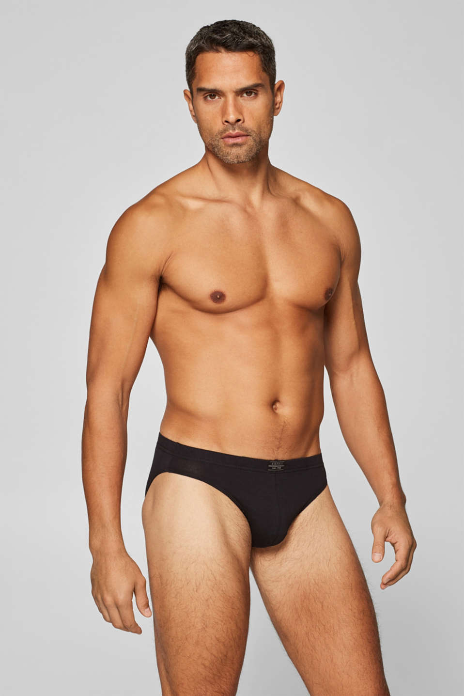 Three pack of briefs, cotton/stretch, BLACK, detail image number 0
