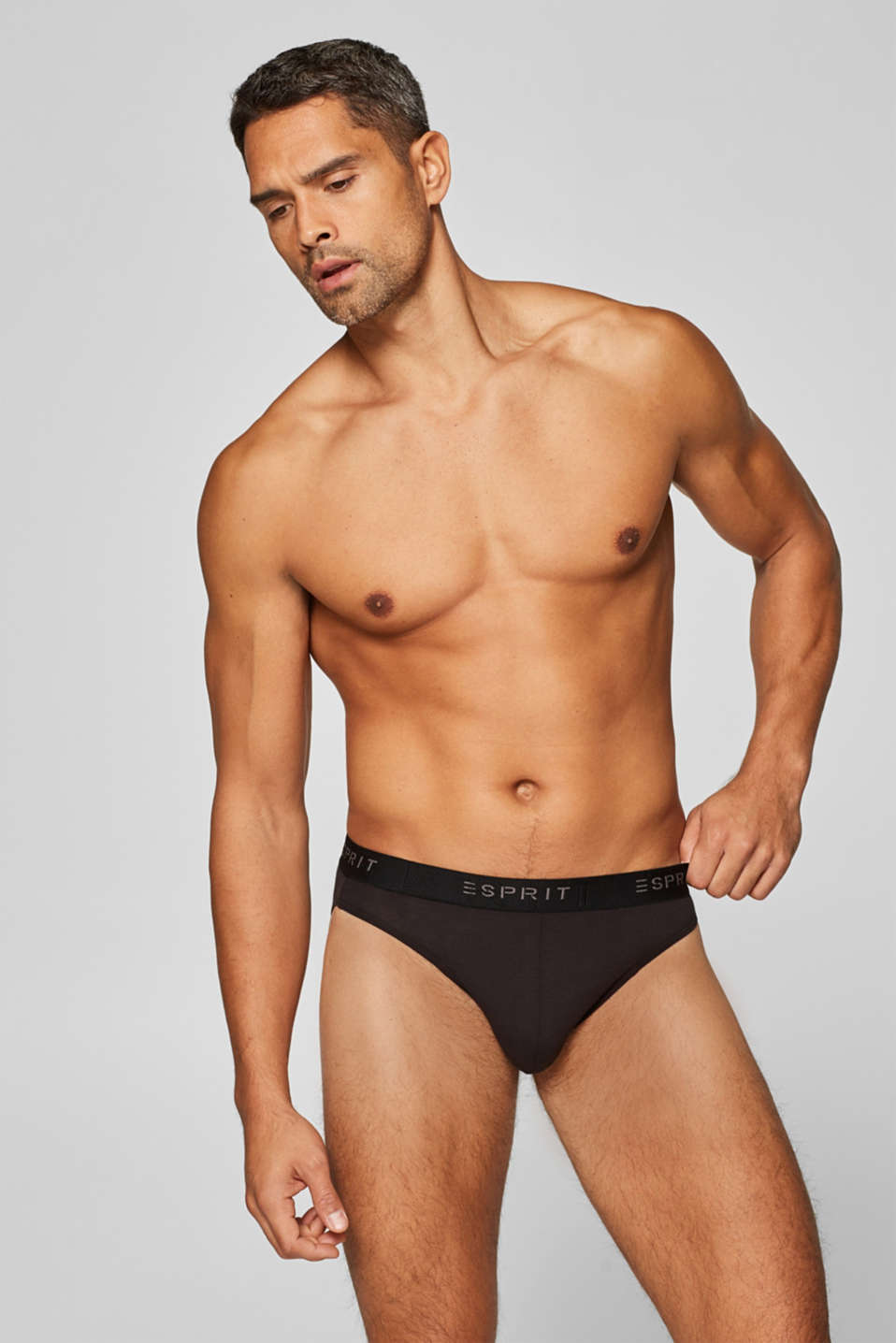3 pairs of stretch cotton briefs, BLACK, detail image number 0