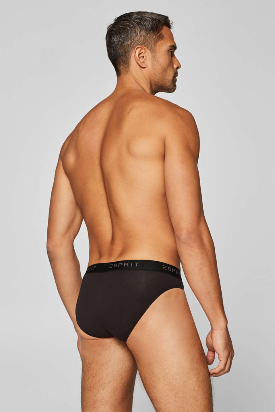 3 pairs of stretch cotton briefs, BLACK, detail image number 1