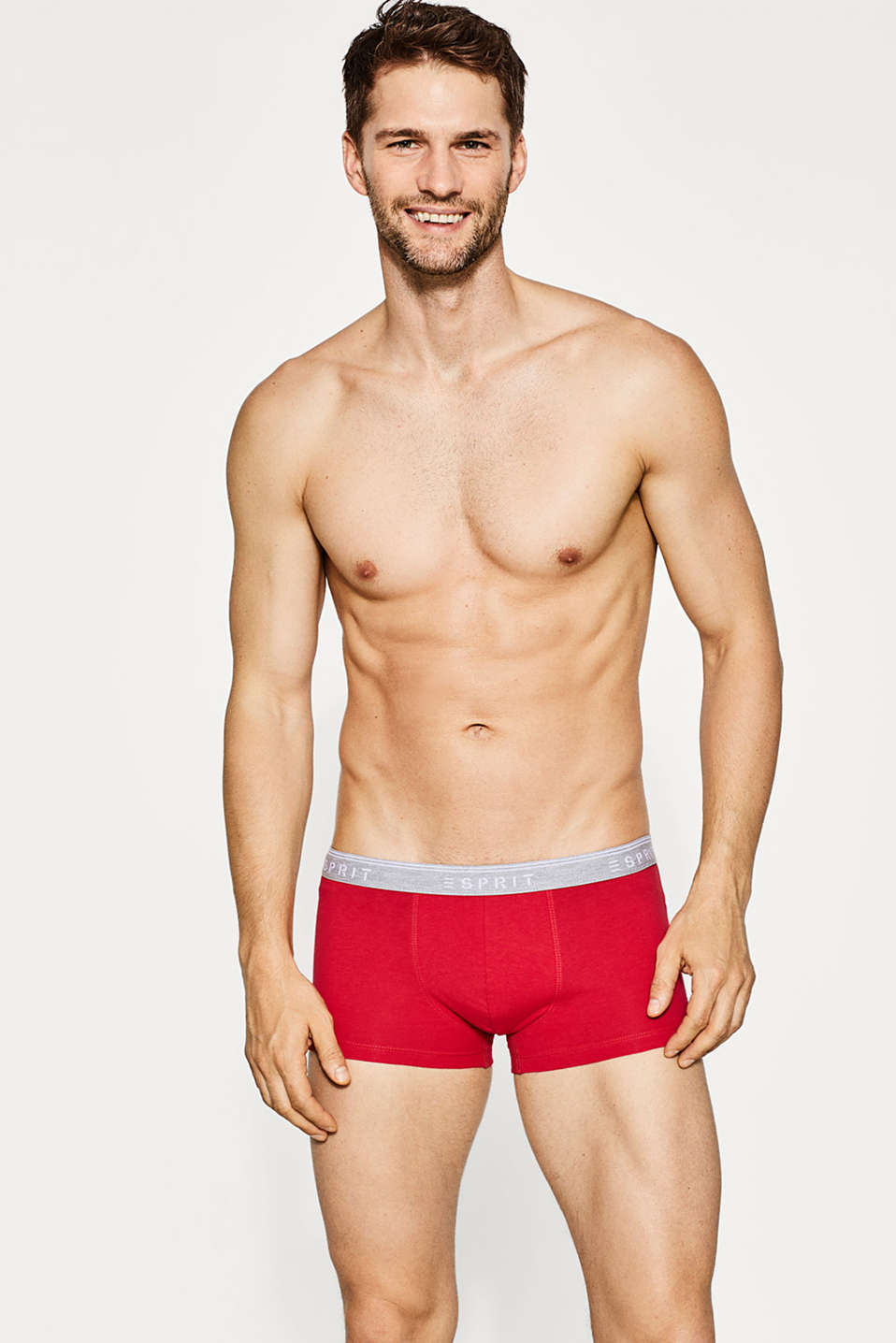 Esprit - Jersey hipster shorts, stretch cotton