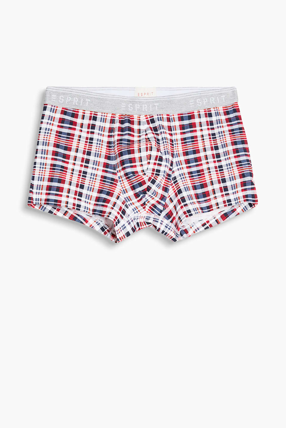The colourful check and the sporty fit make these hipster shorts in stretch cotton a must-have!