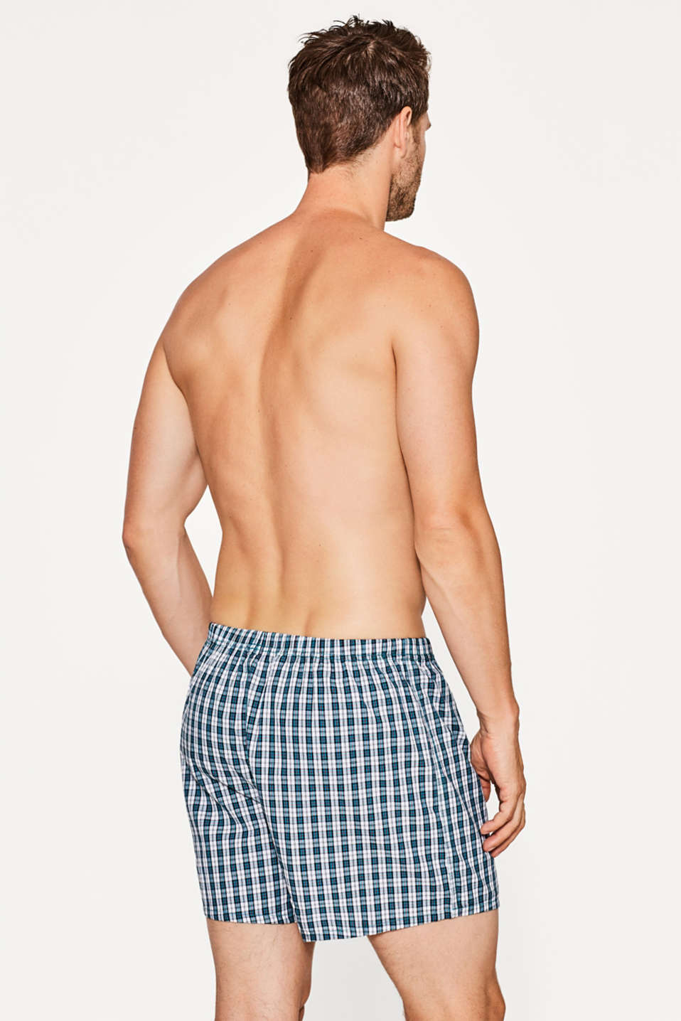 Checked boxer shorts, 100% cotton