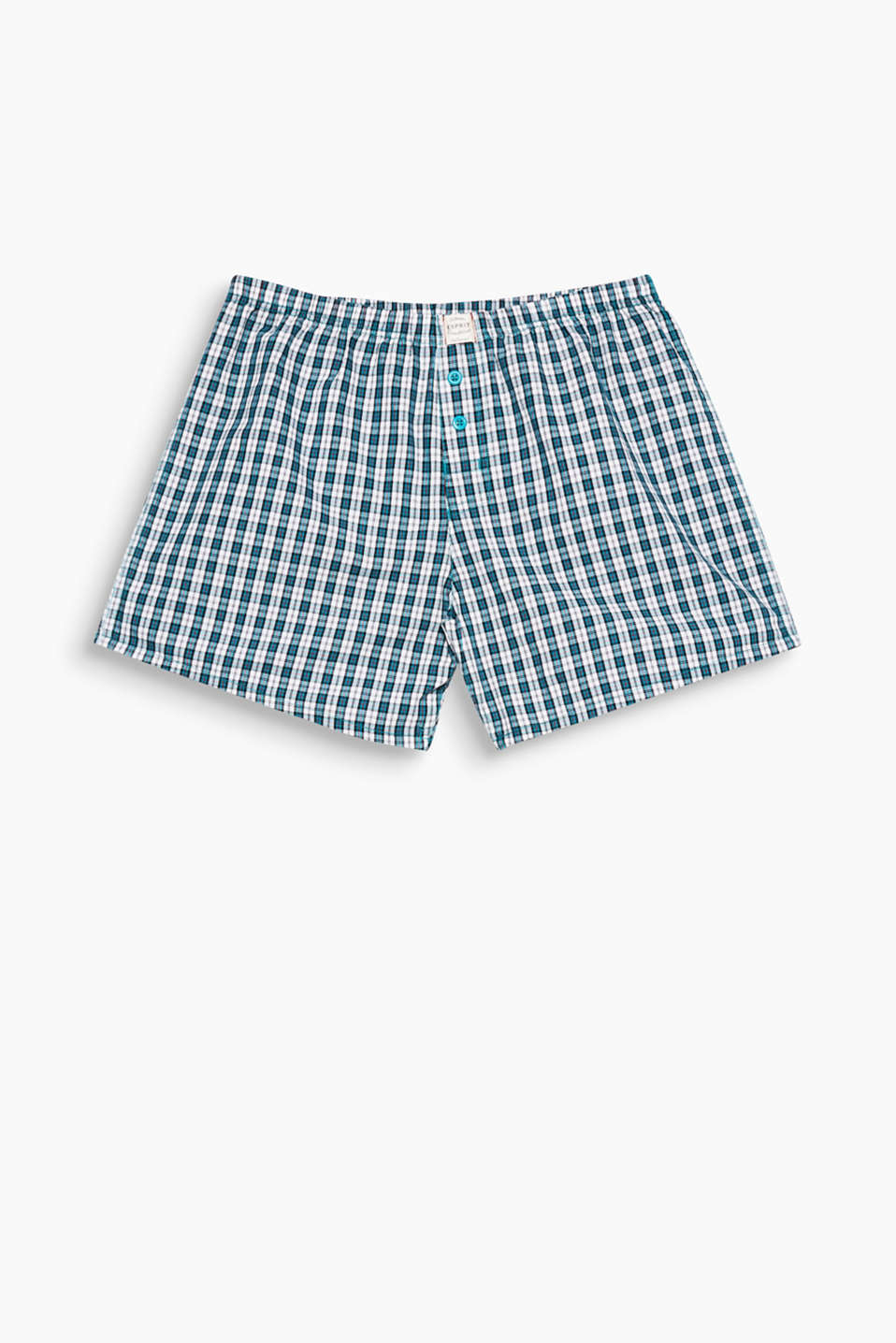 Boxer shorts are an unmissable basic. This pair is made of pure cotton and features a fine, modern check pattern!