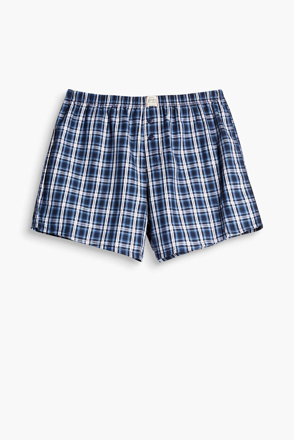 Boxer shorts are an unmissable basic. This pair in pure cotton sport a modern check pattern.